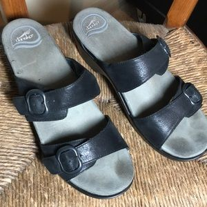 Dansko Leather Buckle Strap Slip On
